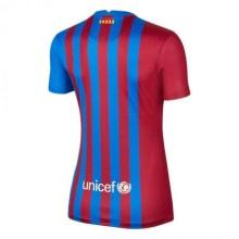Женская домашняя футболка Барселоны 2021-2022 сзади