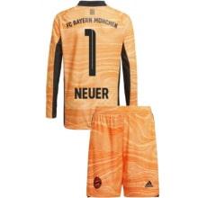 Оранжевая форма Нойер с длинными рукавами 2021-2022