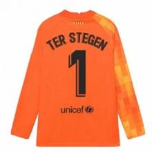 Оранжевая футболка Тер Штеген с длинными рукавами 2021-2022