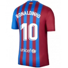 Домашняя футболка Барселоны 2021-2022 Роналдиньо