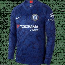 Взрослая домашняя форма Челси 19-20 c длинными рукавами футболка