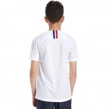 Детская гостевая футбольная форма Франции на ЧМ 2018 сзади