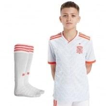 Детская гостевая футбольная форма Испании на ЧМ 2018