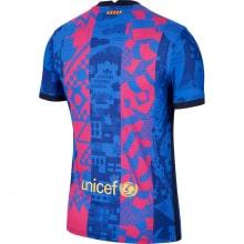 Третья аутентичная футболка Барселоны 2021-2022 сзади