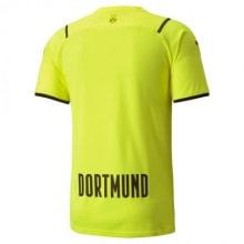 Третья аутентичная футболка Боруссии Дортмунд 2021-2022 сзади