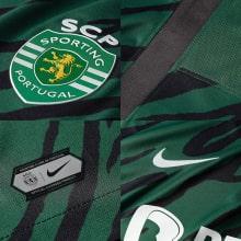 Третья игровая футболка Спортинг 2021-2022 логотипы