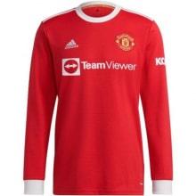 Домашняя форма Ман Юнайтед 21-22 Роналду с длинными рукавами футболка спереди