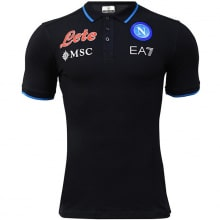 Черная поло футболка Наполи 2021-2022