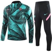 Зелено-черный спортивный костюм Барселоны 2021-2022