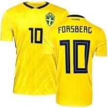 Домашняя футболка Швеции на ЧМ 2018 Форсберг