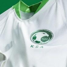 Домашняя футболка Саудовской Аравии на чемпионат мира 2018 вблизи