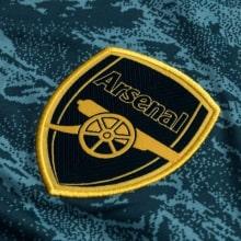 Вратарская домашняя футболка Арсенала 2019-2020 с длинными рукавами герб клуба