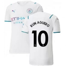 Гостевая футболка Манчестер Сити 21-22 Кун АГУЭРО