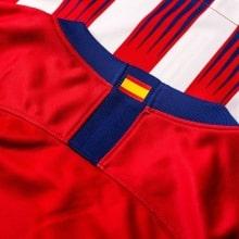 Женская домашняя футболка Атлетико Мадрид 2018-2019 воротник сзади