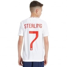 Детская домашняя форма Англии на ЧМ 2018 Рахим Стерлинг номер 7