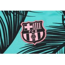 Зелено-черный костюм Барселоны 2021-2022 герб клуба