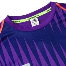 Фиолетовая тренировочная футболка Ливерпуля 2018-2019 воротник