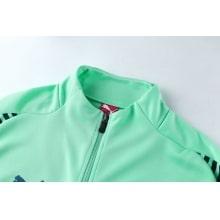 Взрослый сине-зеленый костюм Арсенала 2018-2019 воротник вблизи