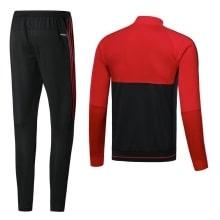 Взрослый красно-черный костюм Милана 18-19 кофта и штаны сзади