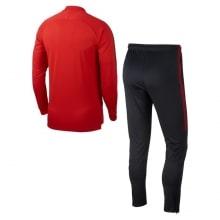 Взрослый черно-красный костюм ПСЖ 18-19 сзади