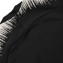 Взрослый черно-белый костюм ПСЖ 18-19 кофта сзади