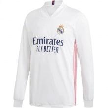 Домашняя форма Реал Мадрид 2020-2021 c длинными рукавами футболка