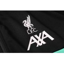Черно-бело-мятный костюм Ливерпуля 2021-2022 герб клуба
