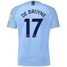Детская домашняя футболка Де Брёйне номер 17 2018-2019
