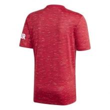 Домашняя аутентичная футболка Манчестер Юнайтед 2020-2021 сзади