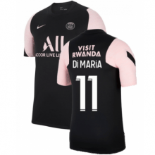 Черно-розовая футболка DI MARIA ПСЖ 2021-2022