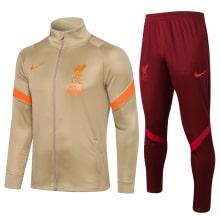 Бежево-бордовый спортивный костюм Ливерпуля 2021-2022