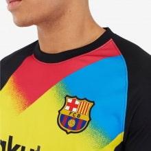 Вратарская домашняя футболка Барселоны версия Европа 19-20 герб клуба