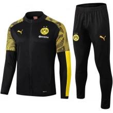 Взрослый черный спортивный костюм Боруссии 19-20