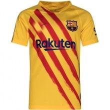 Комплект взрослой четвертой формы Барселоны 2019-2020 футболка