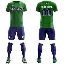 Футбольная форма сине зеленого цвета косые линии на заказ