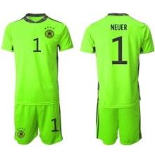Вратарская зеленая форма Германии Ноер 2020-2021