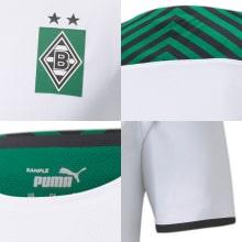 Домашняя игровая футболка Боруссии Менхенгладбах 2021-2022 логотипы