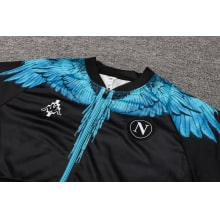 Черно-голубой спортинвый костюм Наполи 2021-2022 воротник