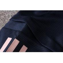 Синий спортивный костюм Ювентуса 2021-2022 плечо