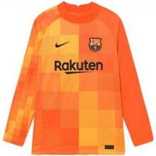 Оранжевая футболка Тер Штеген с длинными рукавами 2021-2022 спереди