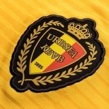 Гостевая игровая футболка сборной Бельгии на ЧМ 2018 с логотипом