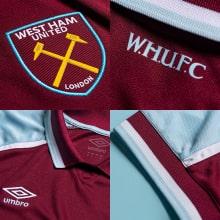 Домашняя игровая футболка Вест Хэм 2021-2022 логотипы