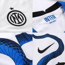 Гостевая игровая футболка Интера 2021-2022 логотипы