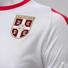 Гостевая футболка сборной Сербии на чемпионат мира 2018 сзади