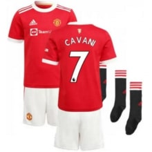 Детская домашняя футбольная форма Кавани 2021-2022