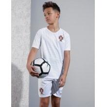 Детский комплект гостевой футбольной формы Португалии на ЧМ 2018 спереди