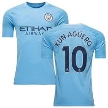 Домашняя футболка Манчестер Сити 2017-2018 Кун Агуэро номер 10