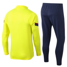 Желто-синий костюм Барселоны 2021-2022 сзади