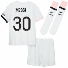 Детская гостевая футбольная форма ПСЖ МЕССИ 2021-2022