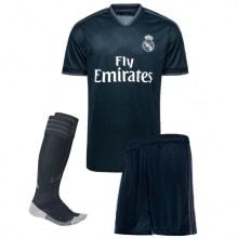 Детская гостевая футбольная форма Гарет Бейл 2018-2019 футболка шорты и гетры спереди